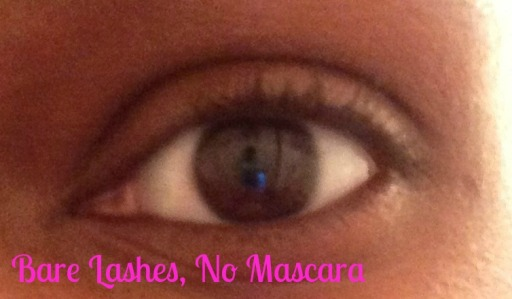 Bare lashes no mascara