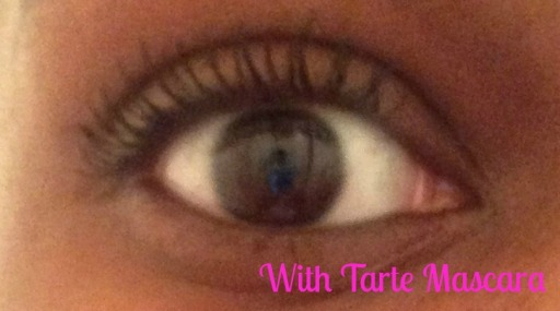 With Tarte mascara