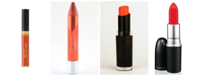 orange lipstick picks
