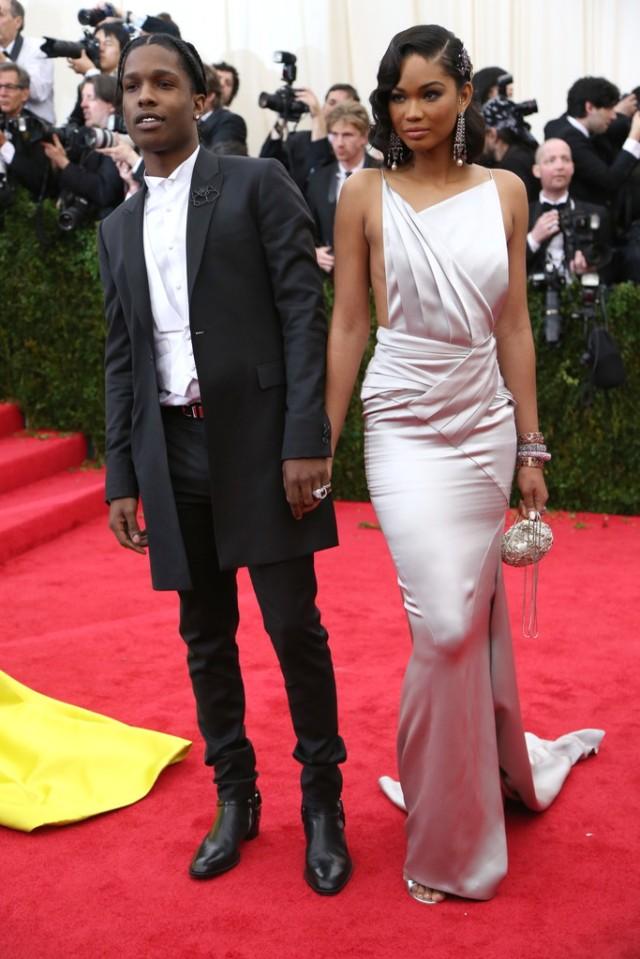 Chanel Iman & ASAP Rocky MetGala