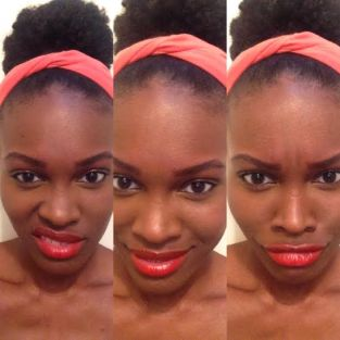maybelline neon red lip swatch